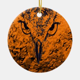 oiseau ornement rond en céramique