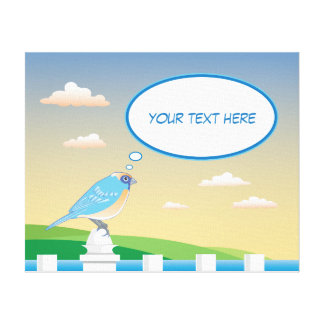 Oiseau personnalisé par la toile des enfants de