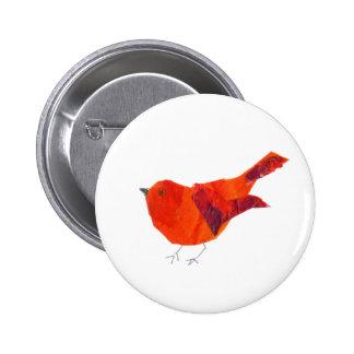 Oiseau rouge mignon pin's