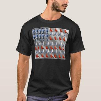 Oiseau tenant le drapeau américain t-shirt