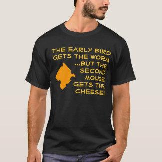 Oiseau tôt/deuxième chemise de souris t-shirt