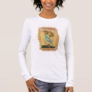 Oiseau vert, Mughal (gouache sur le papier) T-shirt À Manches Longues