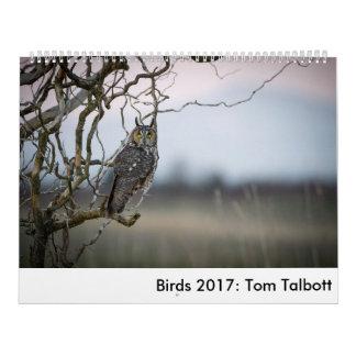 Oiseaux 2017 : Tom Talbott Calendrier
