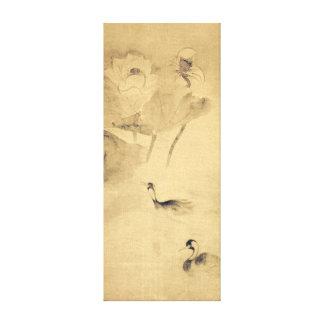 Oiseaux aquatiques de Tawaraya Sōtatsu dans Toiles