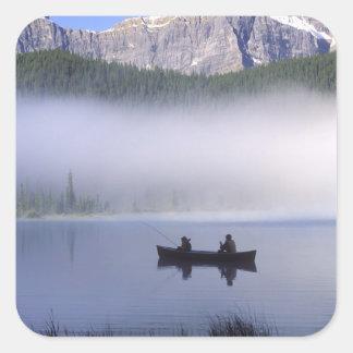 Oiseaux aquatiques ressortissant de lac, Banff de Sticker Carré