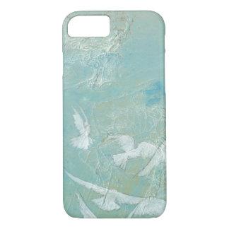 Oiseaux blancs volant par le ciel bleu coque iPhone 7