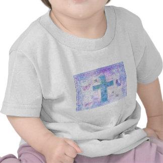 Oiseaux croisés chrétiens de papillons de nature d t-shirts