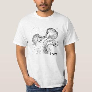 Oiseaux dans l'amour t-shirt