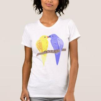 Oiseaux dans le tee - shirt d'amour - texte fait t-shirt