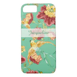 Oiseaux de Bohème modernes de fleur de motif de Coque iPhone 7