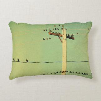 Oiseaux de câble par vert de Lomo Coussins Décoratifs