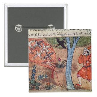 Oiseaux de chasse, 'du livre de Kalila et Badge