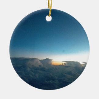 oiseaux de nuage ornement rond en céramique