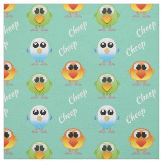 Oiseaux de piaulement de piaulement pour de petits tissu