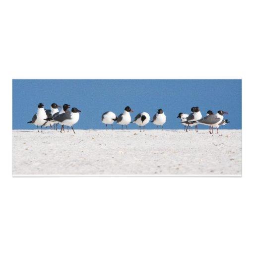 Oiseaux de plage invitations personnalisées