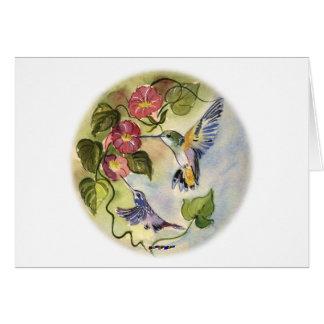Oiseaux de ronflement carte de vœux
