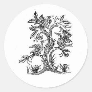 Oiseaux du chant de Rhiannon Sticker Rond