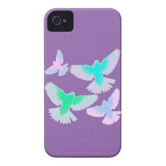 Oiseaux en pastel coque iPhone 4 Case-Mate