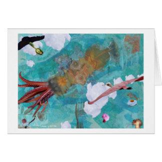Oiseaux en vol carte de vœux