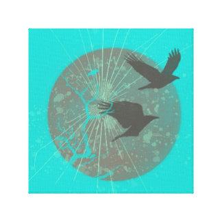 Oiseaux et art de mur de conception graphique de toiles