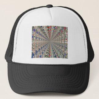 Oiseaux et fleurs de motif de broderie casquette