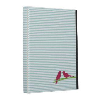 Oiseaux et rayures étui iPad folio