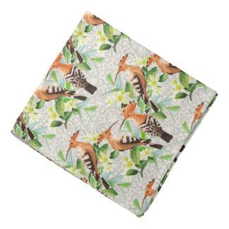 Oiseaux exotiques sur la dentelle bandanas