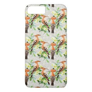 Oiseaux exotiques sur la dentelle coque iPhone 7 plus