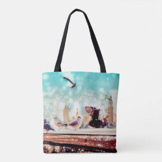 Oiseaux, mouettes - vue de la Tamise, Londres Tote Bag