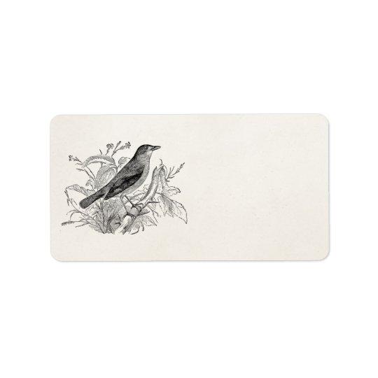 Oiseaux personnalisés par oiseau vintage de étiquette d'adresse