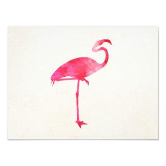 Oiseaux roses de la Floride de silhouette Photo Sur Toile