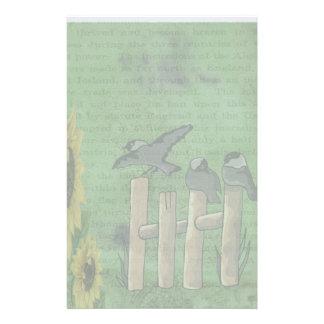 Oiseaux sur la barrière papeterie