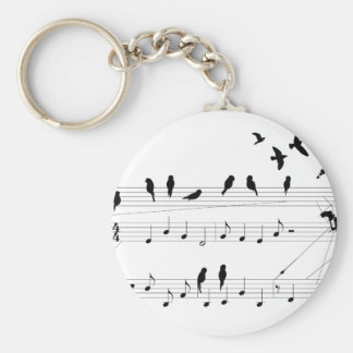 Oiseaux sur un porte - clé de score porte-clés