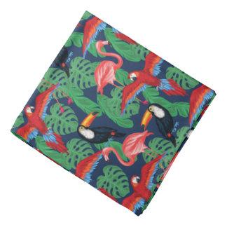 Oiseaux tropicaux dans des couleurs lumineuses bandanas