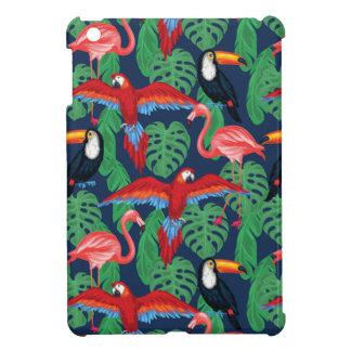 Oiseaux tropicaux dans des couleurs lumineuses coques pour iPad mini