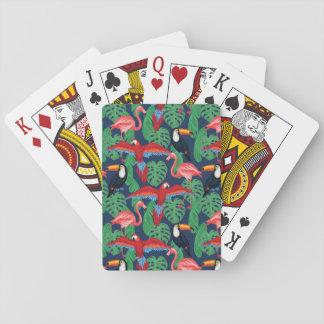 Oiseaux tropicaux dans des couleurs lumineuses jeu de cartes