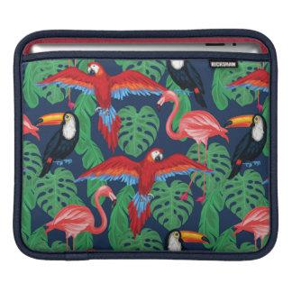 Oiseaux tropicaux dans des couleurs lumineuses poches iPad