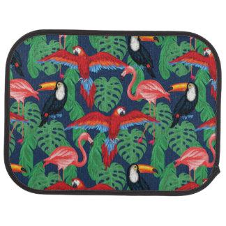 Oiseaux tropicaux dans des couleurs lumineuses tapis de voiture