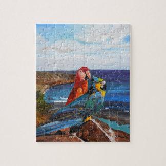Oiseaux tropicaux donnant sur la baie puzzle