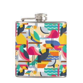 Oiseaux tropicaux géométriques flasques