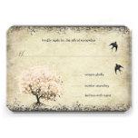 Oiseaux vintages d'arbre de rose de feuille de coe