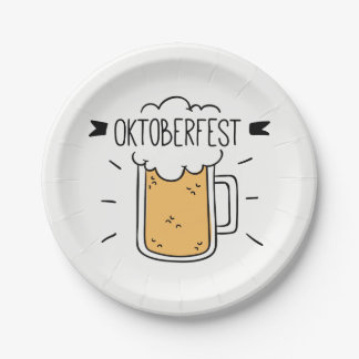 Oktoberfest Beerfest Assiettes En Papier