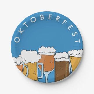 Oktoberfest Beerfest. Collection de bière Assiettes En Papier