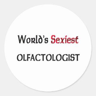 Olfactologist le plus sexy du monde autocollant