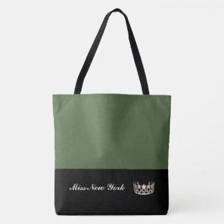 Olive de Fourre-tout de couronne argentée de la Tote Bag