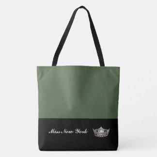 Olive de Fourre-tout de couronne argentée de Mlle Tote Bag