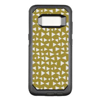 Olive de jaune de moutarde de triangle d'or/Andrea Coque Samsung Galaxy S8 Par OtterBox Commuter