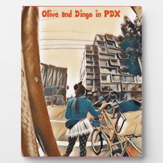 Olive et dingo dans PDX Plaque D'affichage