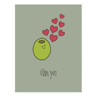 """Olive vous !"" Carte postale"