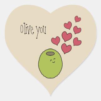 """""""Olive vous"""" faites des calembours autocollant"""
